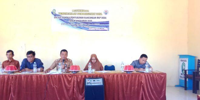 Susun RKP 2020, Pemdes Kalobba Gelar Musyawarah
